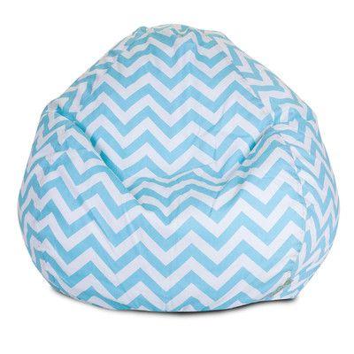 Chevron Bean Bag Chair Color Tiffany Blue