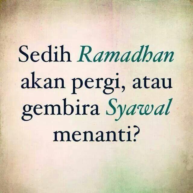 Sedih Ramadhan Akan Pergi Sedih Pesan