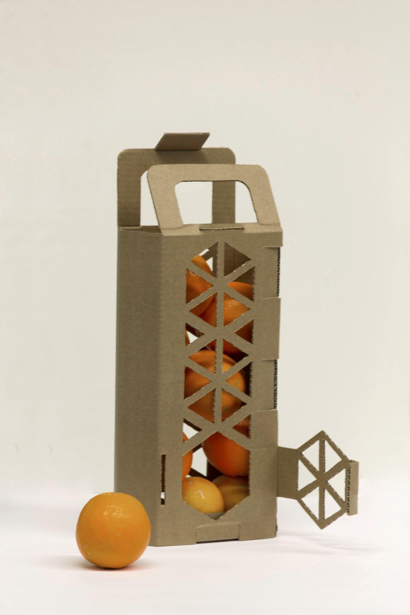 Cardboard oranges packaging design #followthefoodies #foodsafari