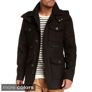 Shop for Seduka Men's Wool Blend Military Coat. Get free delivery ...