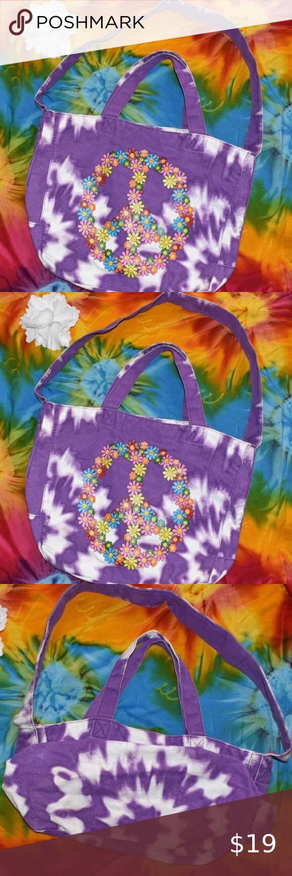 Floral canvas tie dye pouch