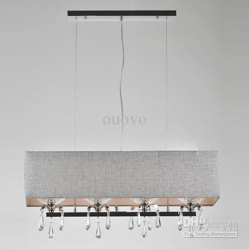 Wholesale pendant light buy modern dining room crystal for Rectangular dining room light