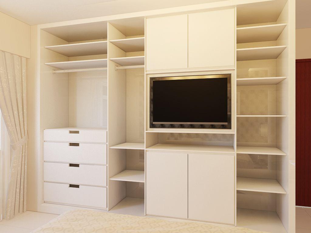 Wardrobe With Tv S C P Pinterest Armario Placares Y  ~ Diseños De Armarios Empotrados Por Dentro
