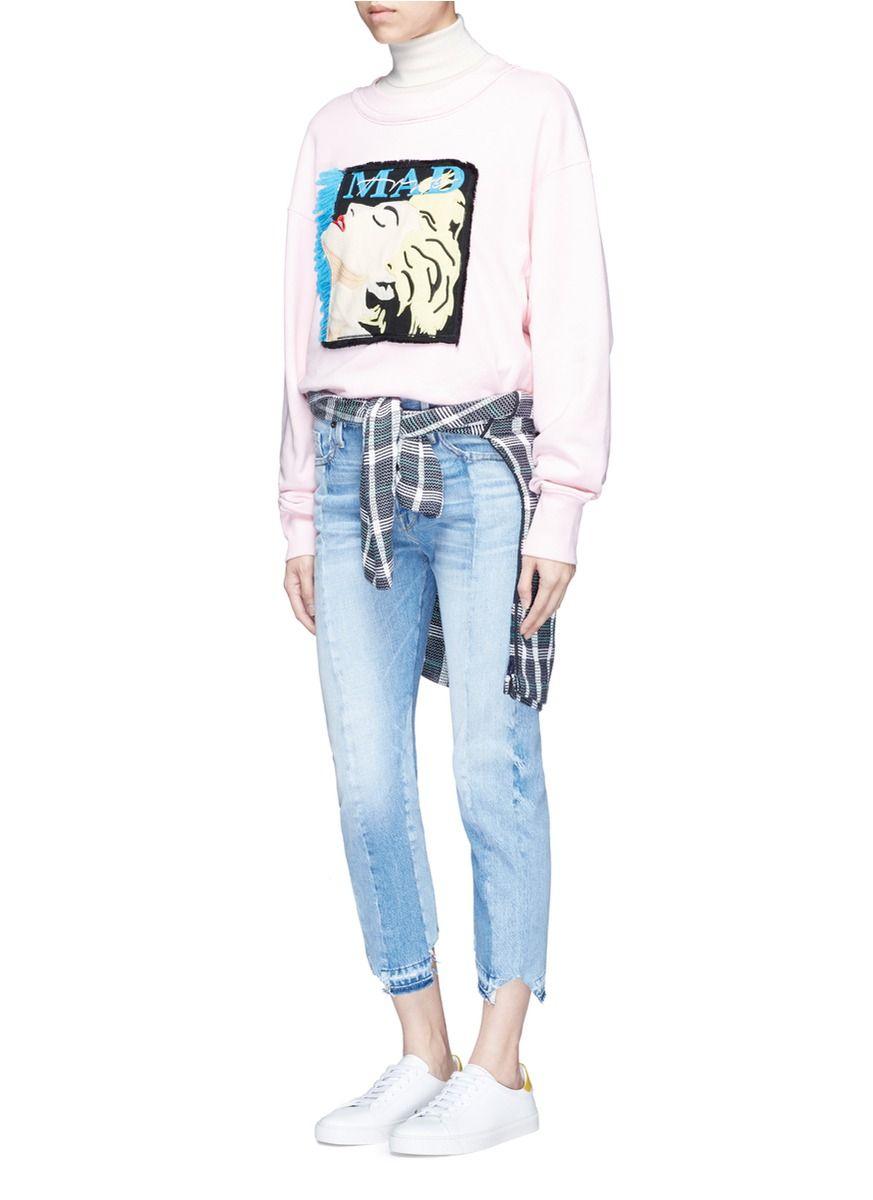 GROUND-ZERO | Madonna CD cover embroidery sweatshirt