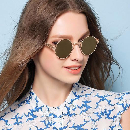 af419b41f90ba Womens  Potter  Round Circle Steampunk Sunglasses Astroshadez