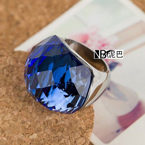 Wholesale Alibaba Online Shopping Wholesale Big Blue Crystal Stainless Steel Ring - Alibaba.com