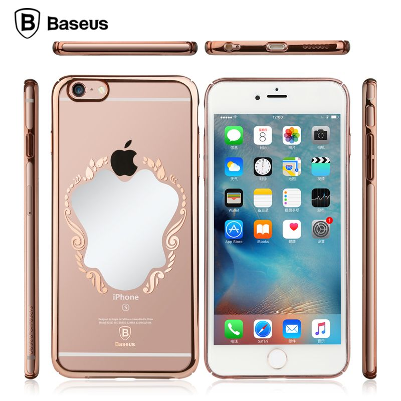mirror style Phone Case for iPhone 6 6s 4.7 inch Electroplating edge Soft TPU Transparent Back cover | iPhone Covers Online