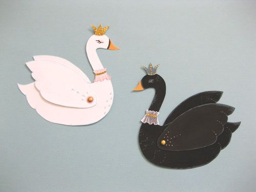 swan pattern | This is what I was working on in my last post – little paper swans ...
