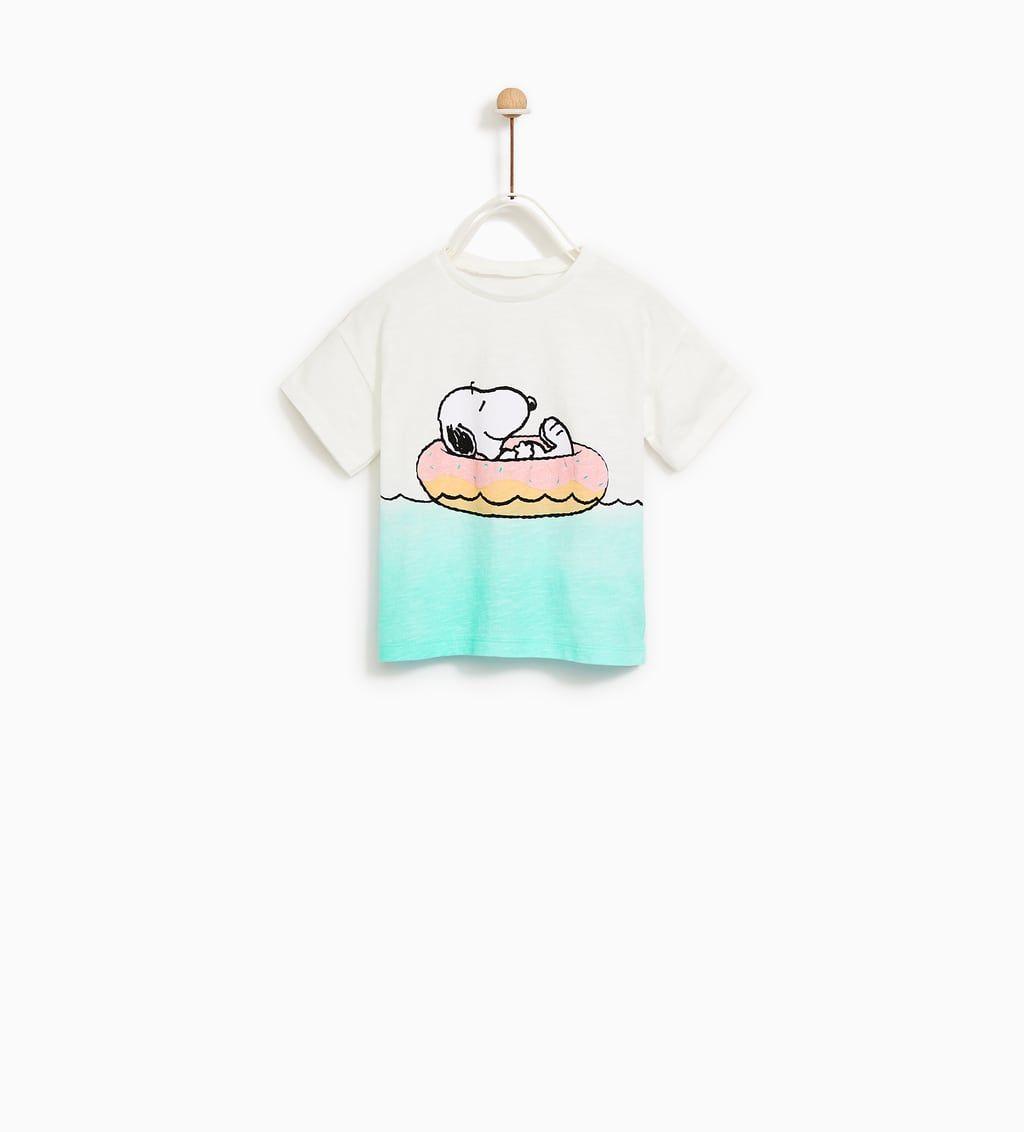 Imagen 1 De Camiseta Snoopy De Zara Snoopy Clothes Kids Outfits Snoopy T Shirt
