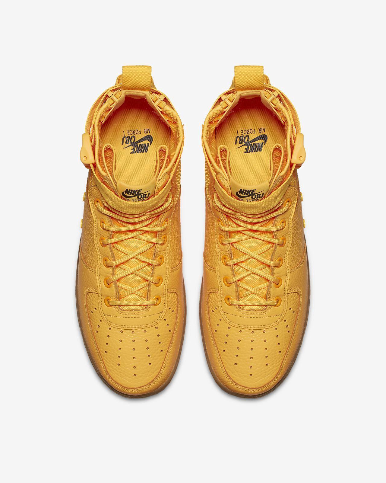 Nike Sf Air Force 1 Mid Obj Men's Shoe 7 Orange | Shoes
