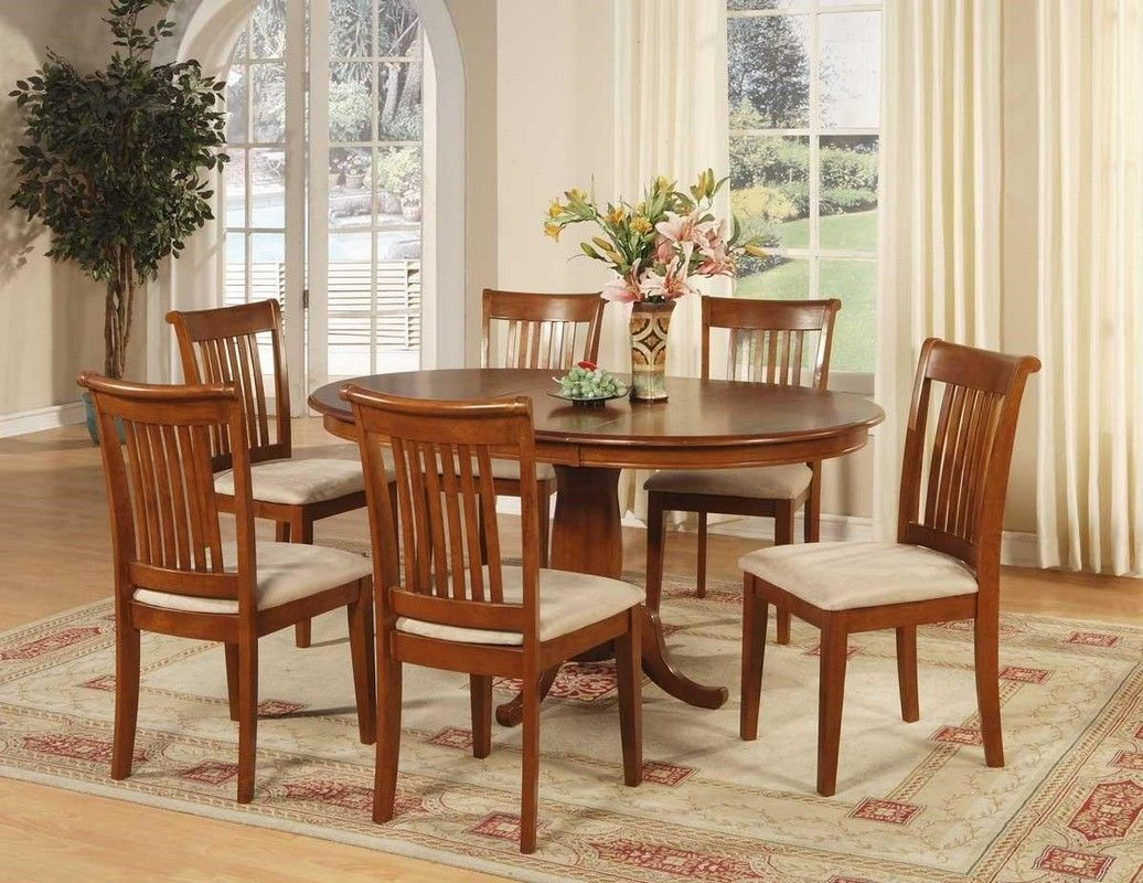 Cherry wood dining room table kitchen and chairs finish modern