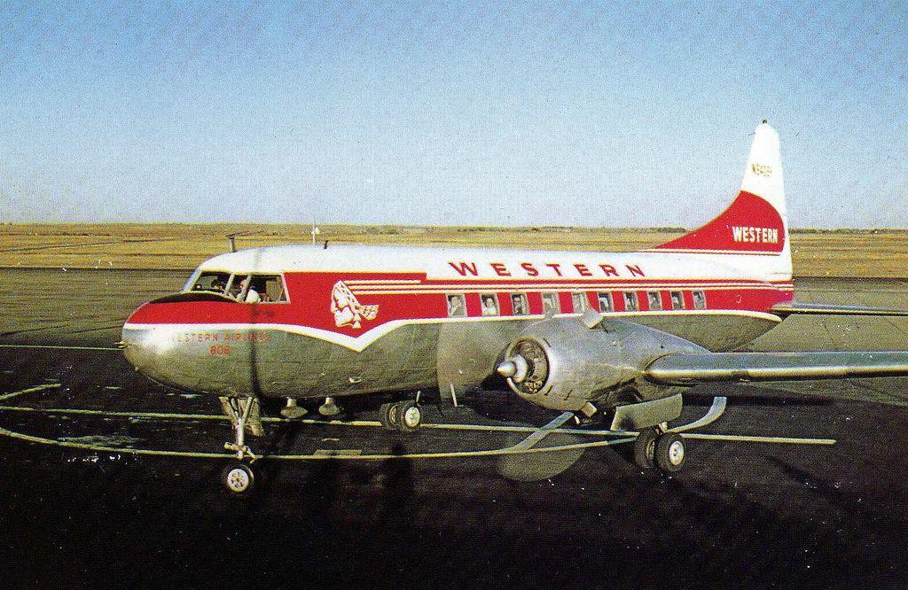 Western Airlines Convair 240 Aircraft, Vintage airplanes