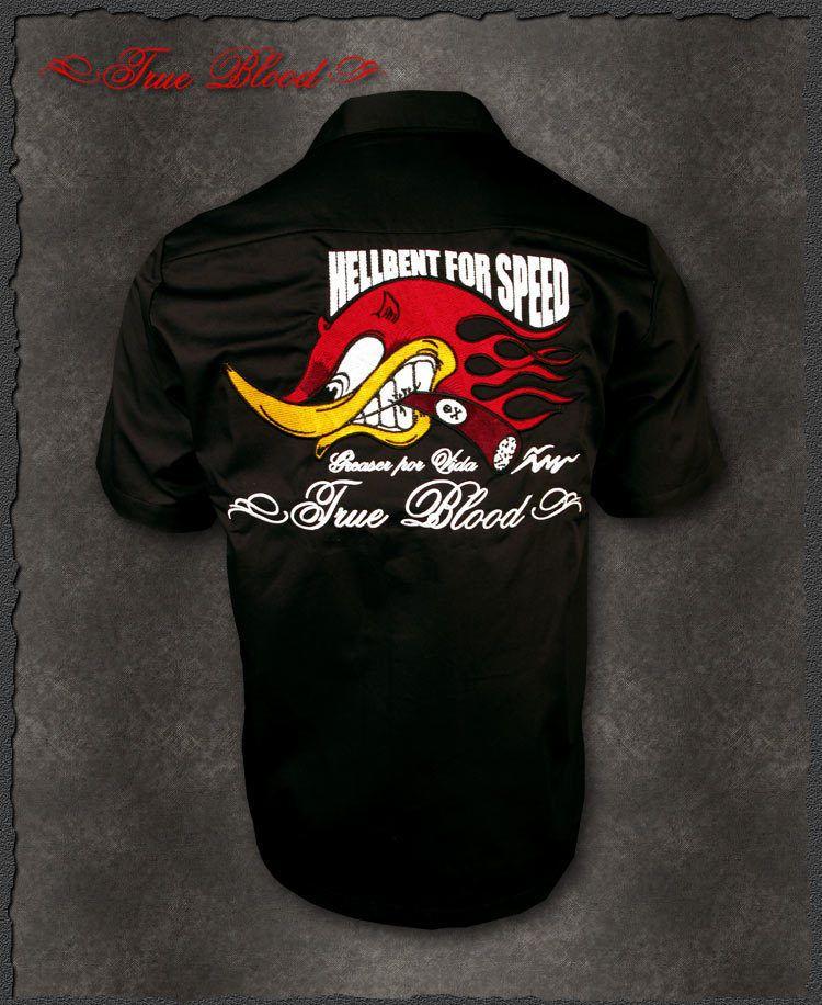 Billy Eight Mr Horsepower hot rod work shirt rockabilly M