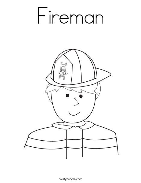 fireman coloring pages preschool alphabet | Fireman Coloring Page from TwistyNoodle.com | Fire ...