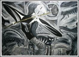abstrak of pencil.,