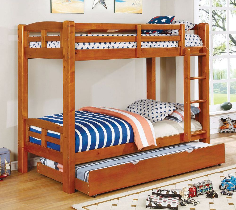 Solpine Twin over Twin Bunk Bed by Furniture of America   Bunk Beds ...