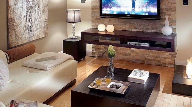 Foyer ambiance contemporaine d co foyer salon moderne et d co salon - Decoration foyer salon ...