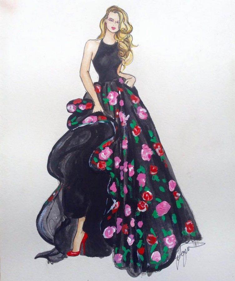 Emma Ferguson Illustration. BRIDESMAID GIFT IDEA: Have your bridesmaid illustrated in their bridesmaid outfits. Read more bridesmaid gift ideas here:http://www.easyweddings.com.au/articles/bridesmaid-gift-ideas-guaranteed-to-make-your-bridal-besties-smile/