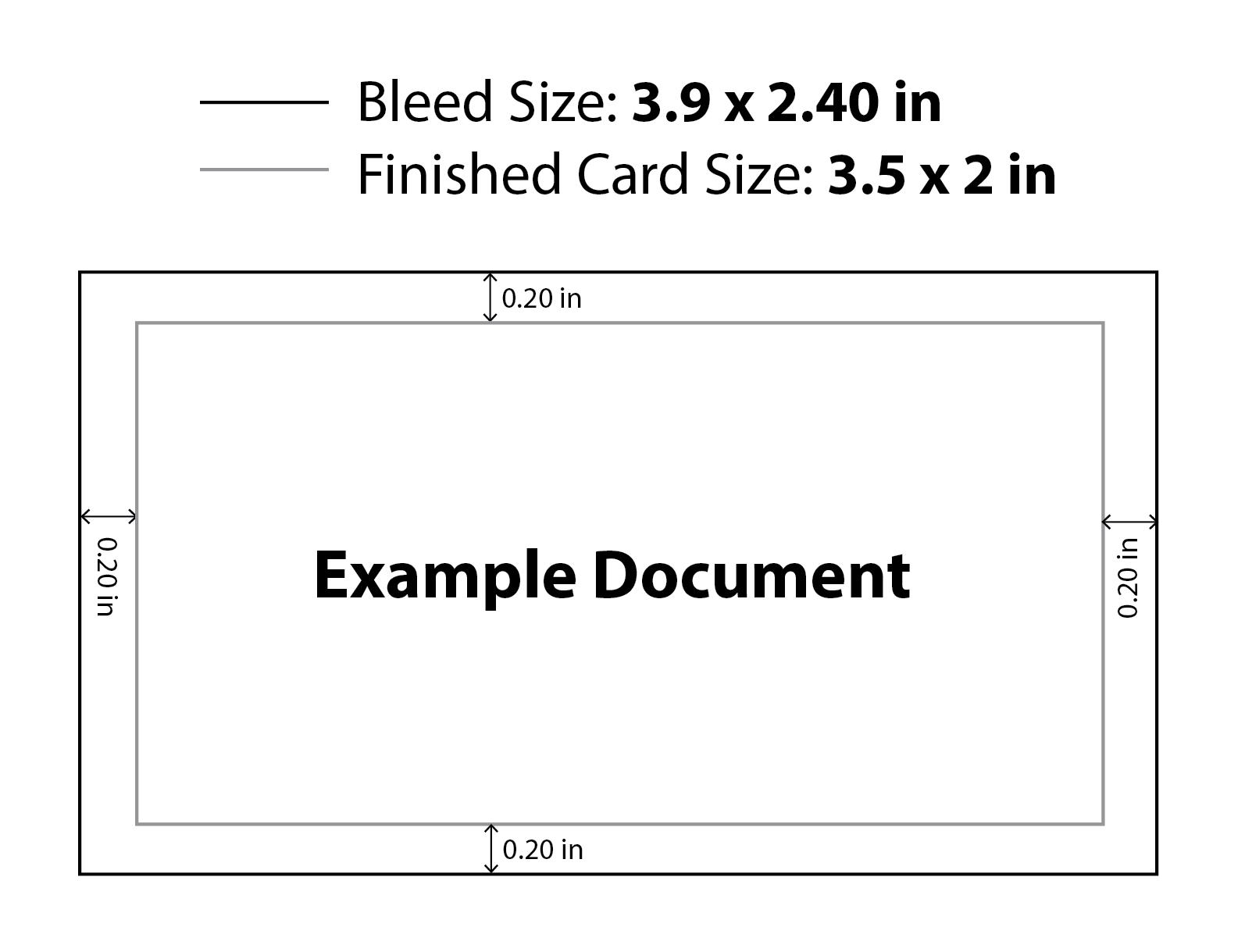 Business Card Abmessungen Und Entlüften Mit Business Karten
