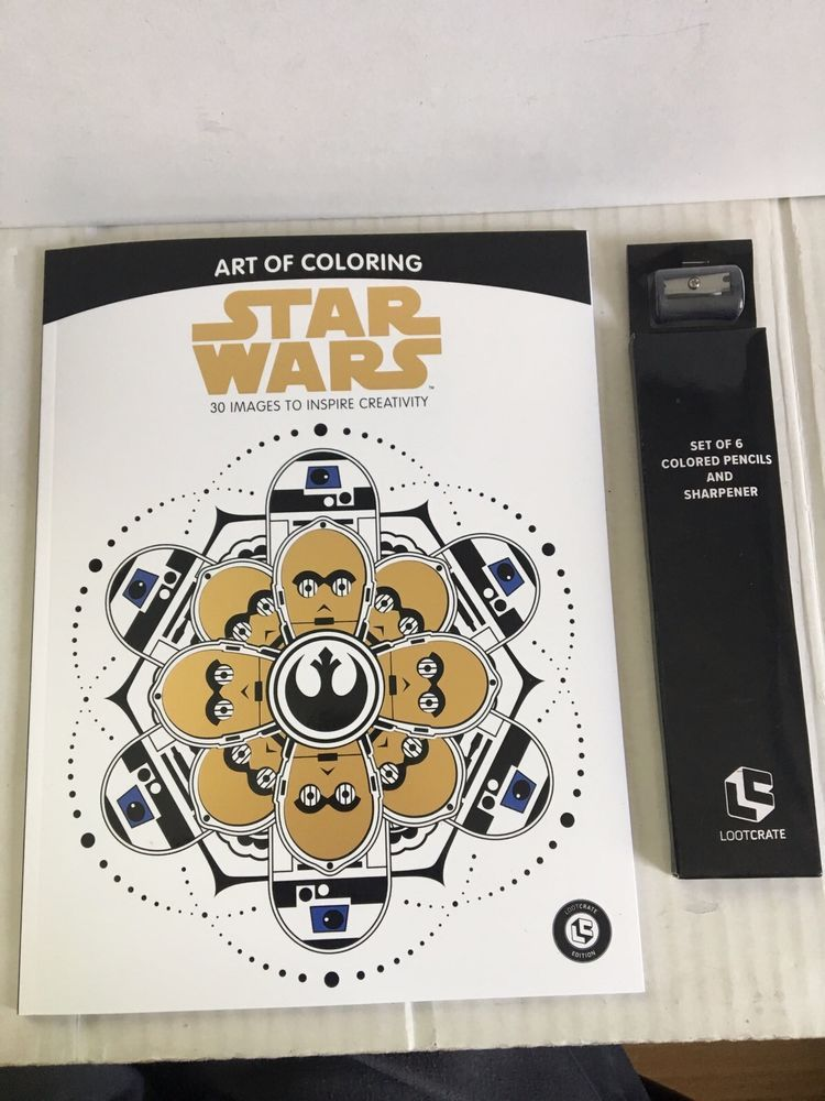 STAR WARS Art Of Coloring Loot Crate Edition May 2017 Adult Book NEW