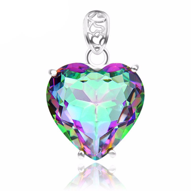 Heart shaped rainbow fire mystical topaz pendant without chain heart shaped rainbow fire mystical topaz pendant without chain heart shaped aloadofball Images