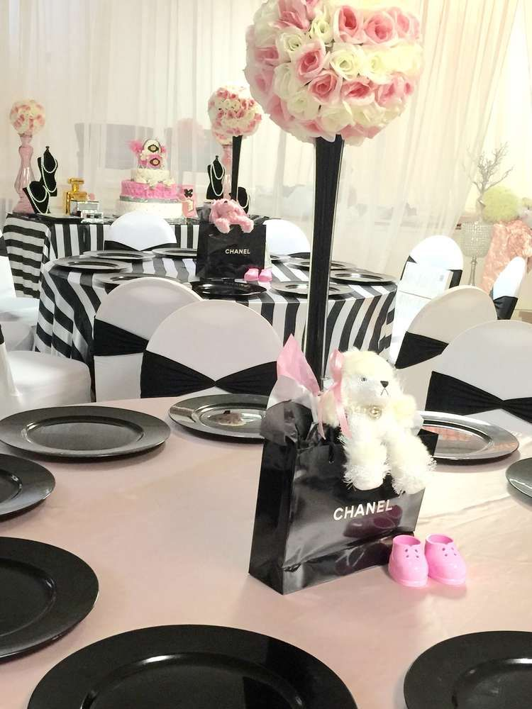 Chanel Baby Shower Party Ideas Chanel Baby Shower Floral