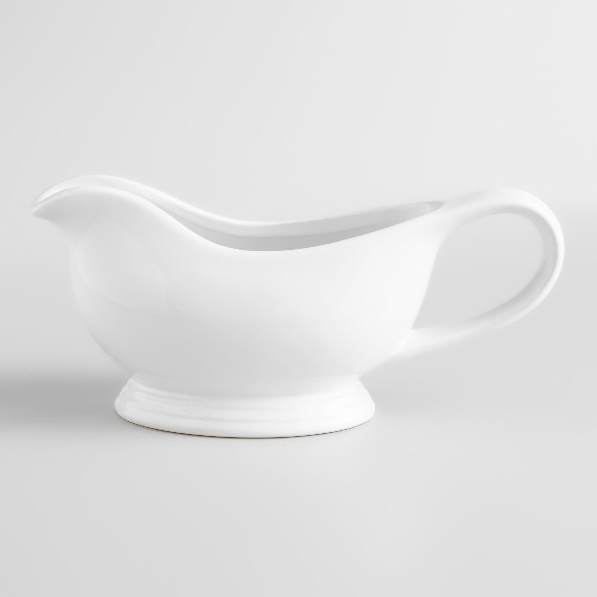 Our perfectly proportioned White Gravy Boat is a staple ...