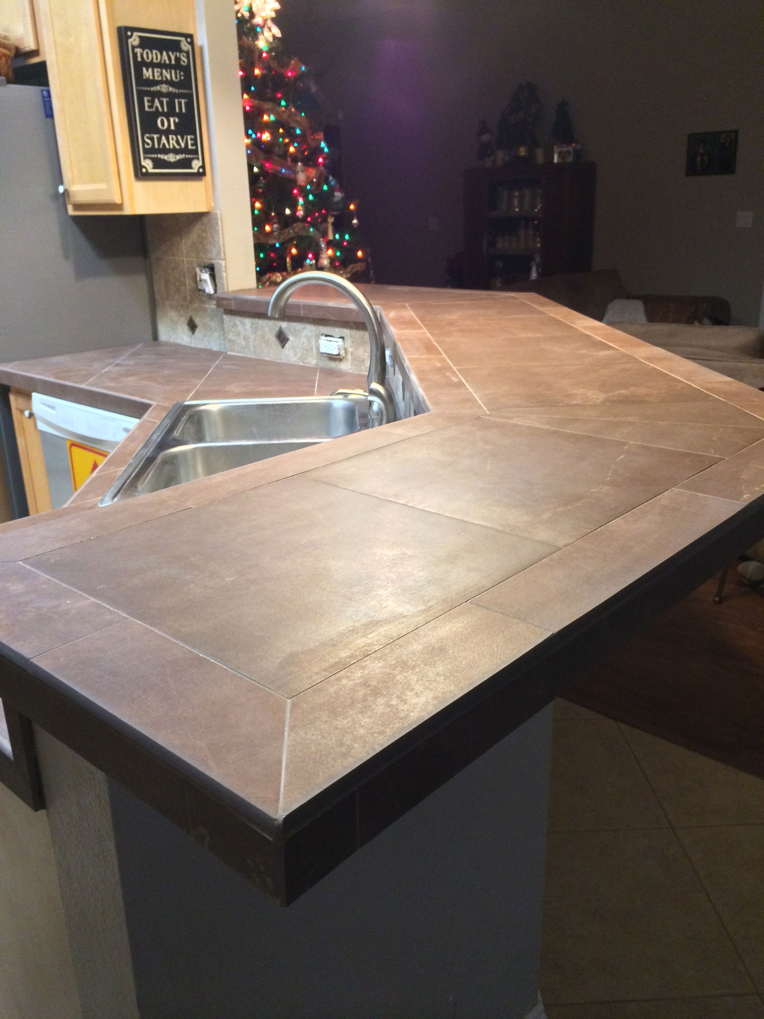 remodel kitchen tile youtube countertops diy countertop watch
