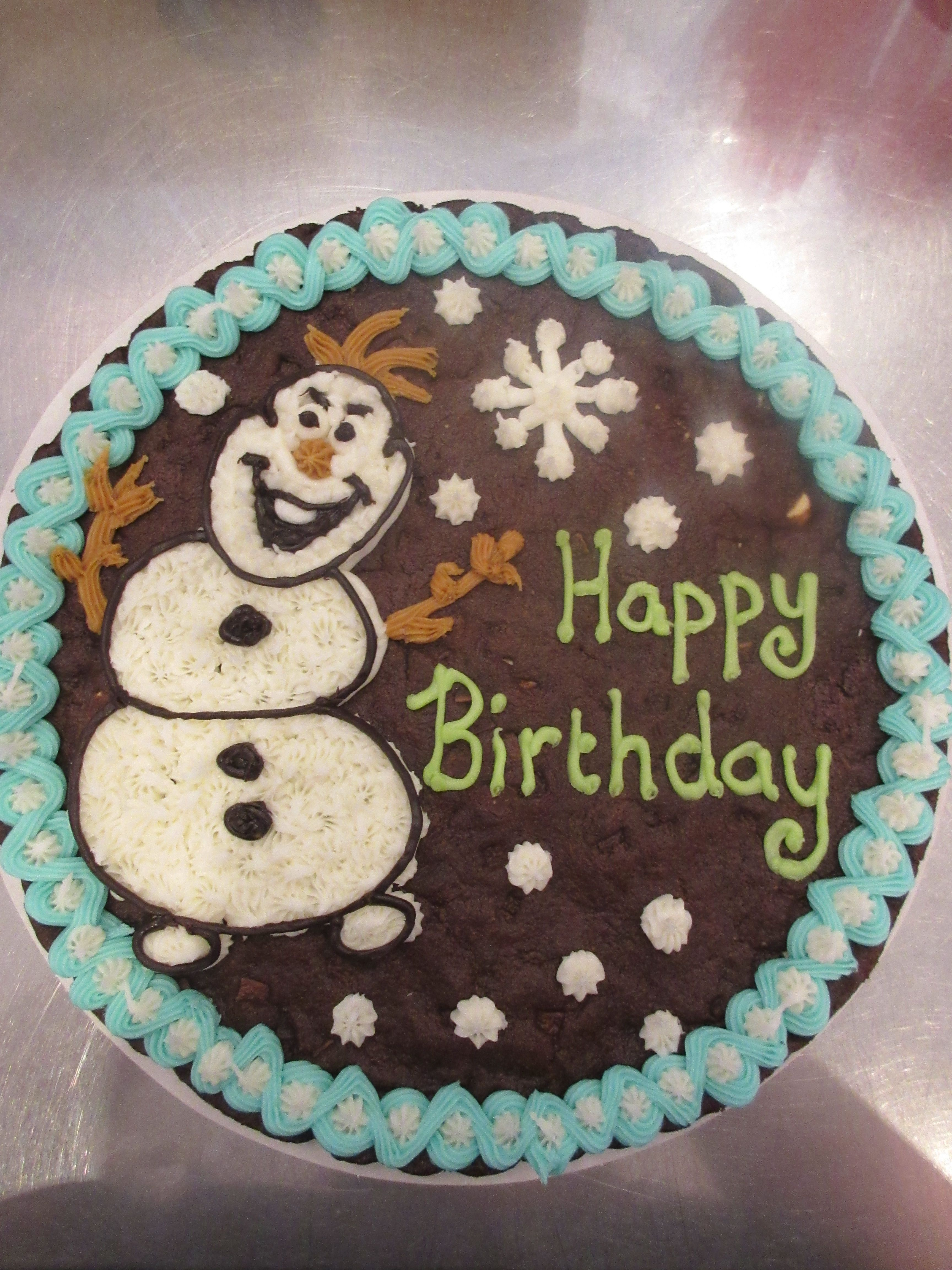 Frozen Olaf Design On Giant Millies Cookie By Hjs Cookies