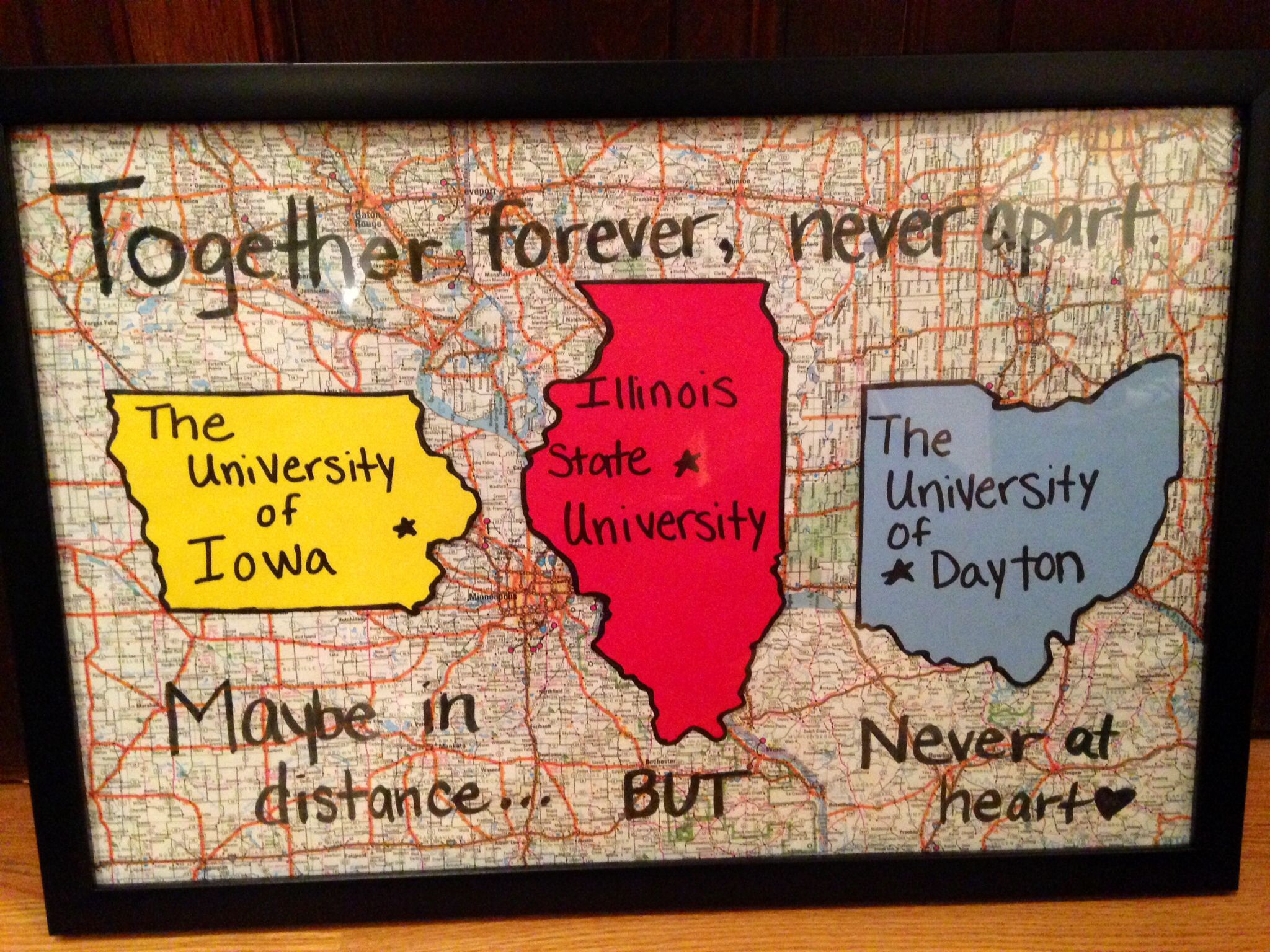 Scrapbook ideas goodbye - Graduation Gift For Friends That Are Going Away To Different Schools