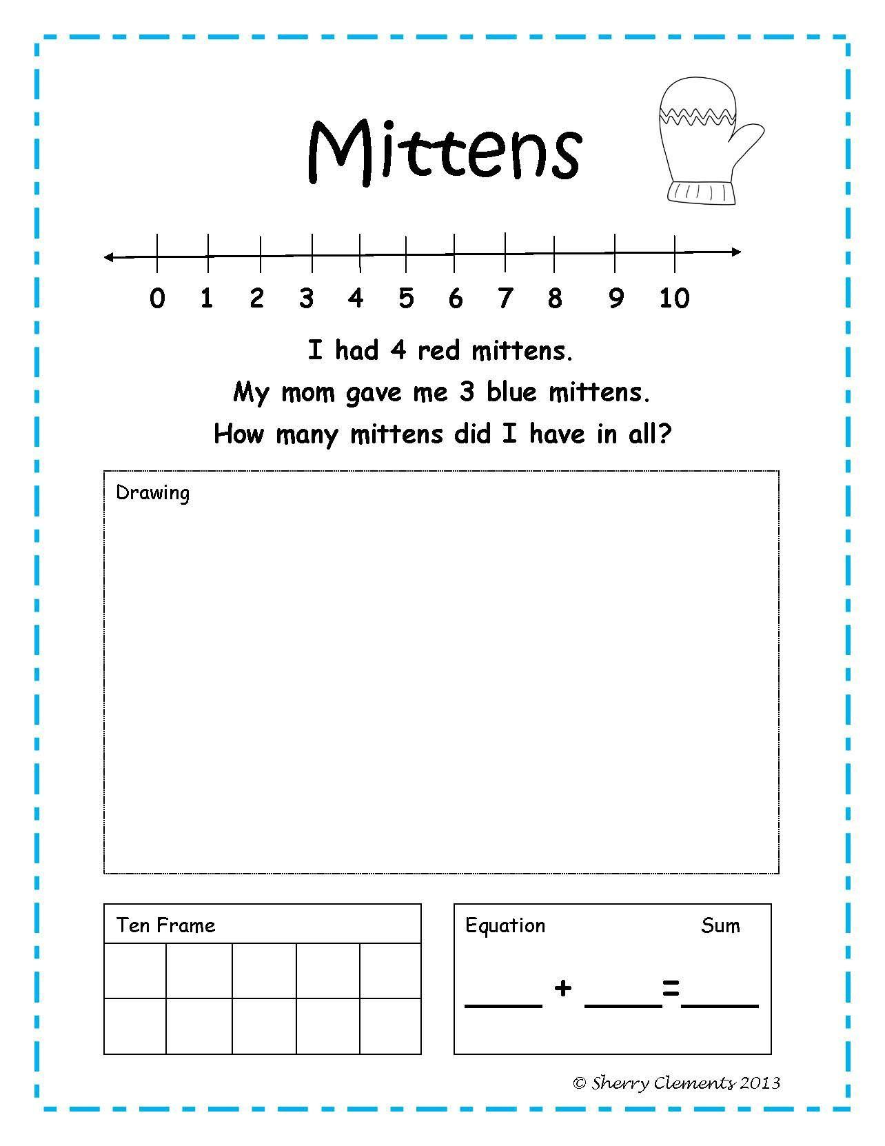 Addition Word Problems January Winter Kindergarten And First Grade Number Line Draw To Solve Addition Words Math Word Problems Word Problem Worksheets Solving addition equations worksheets