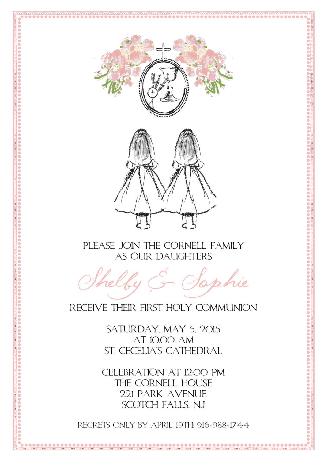 This is a photo of Striking Free Printable First Communion Invitations
