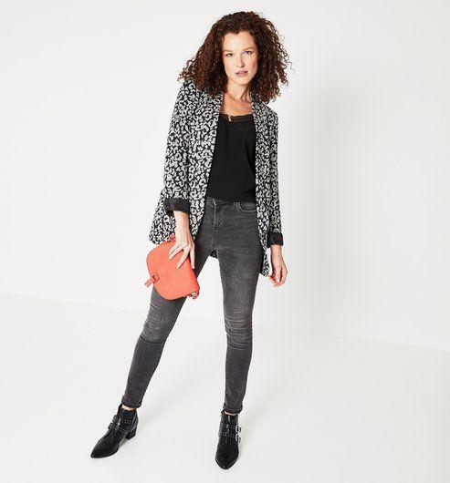 09e431ea67 Veste de tailleur léopard - Imprimé écru - Vestes / Blousons - Femme -  Promod