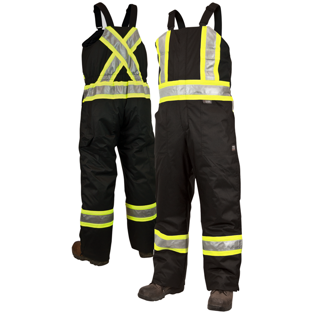 work king s798 class 1 thermal safety bib overalls with on work coveralls id=12138