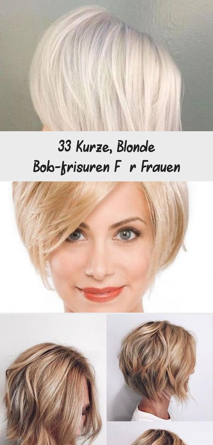 9 Kurze, blonde Bob-Frisuren für Frauen - Madame Friisuren