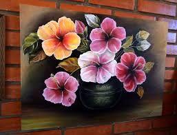 Resultado De Imagen Para Flores Pintadas Con Acrilico Flores