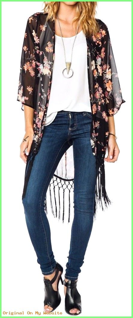 Summer Outfits Women 30s – 40 Kimonos to Throw over Any Top … #SummerOutfitsWomen30scasual…
