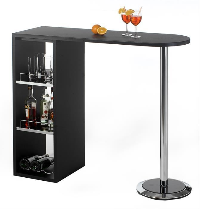 Table De Bar Noir.Meuble Bar De Salon Tres Simple Noir Bar De Salon Vin