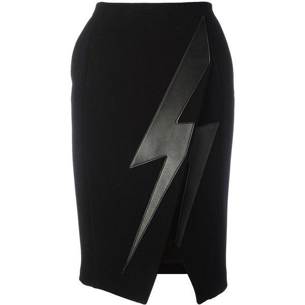 Neil Barrett lightning bolt skirt ( 650) ❤ liked on Polyvore featuring  skirts 8dd45e379