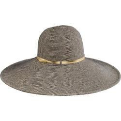 Women's San Diego Hat Company Ultrabraid Xl Belted Hat UBX2711 Black/Gold