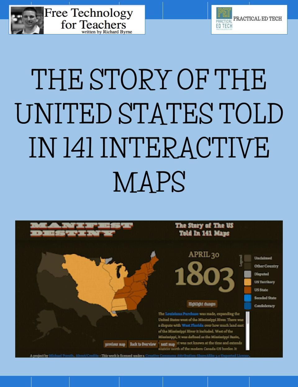 The Story Of The United States Told In 141 Interactive Maps - Us-history-curriculum-map