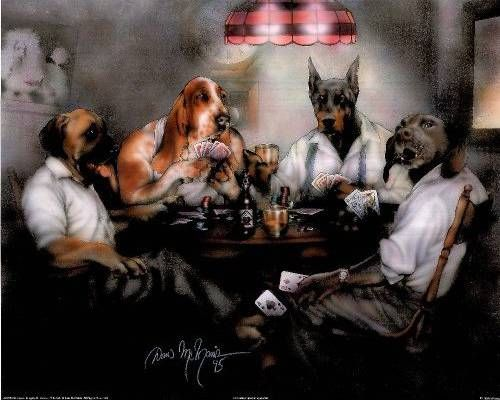 Ourverybestfriends Com Dogs Playing Poker Dog Paintings Dog Poster