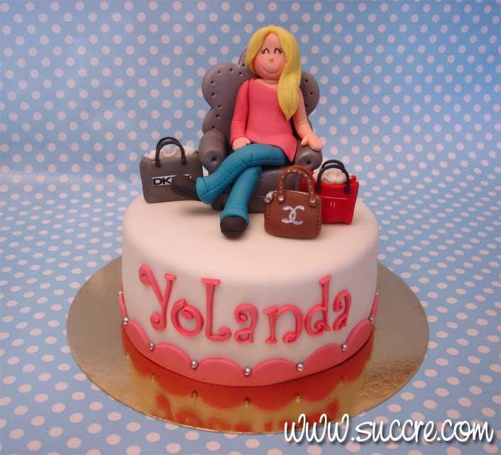 Tarta Chica De Compras Para Yolanda Cakes And Cookies Made By Me
