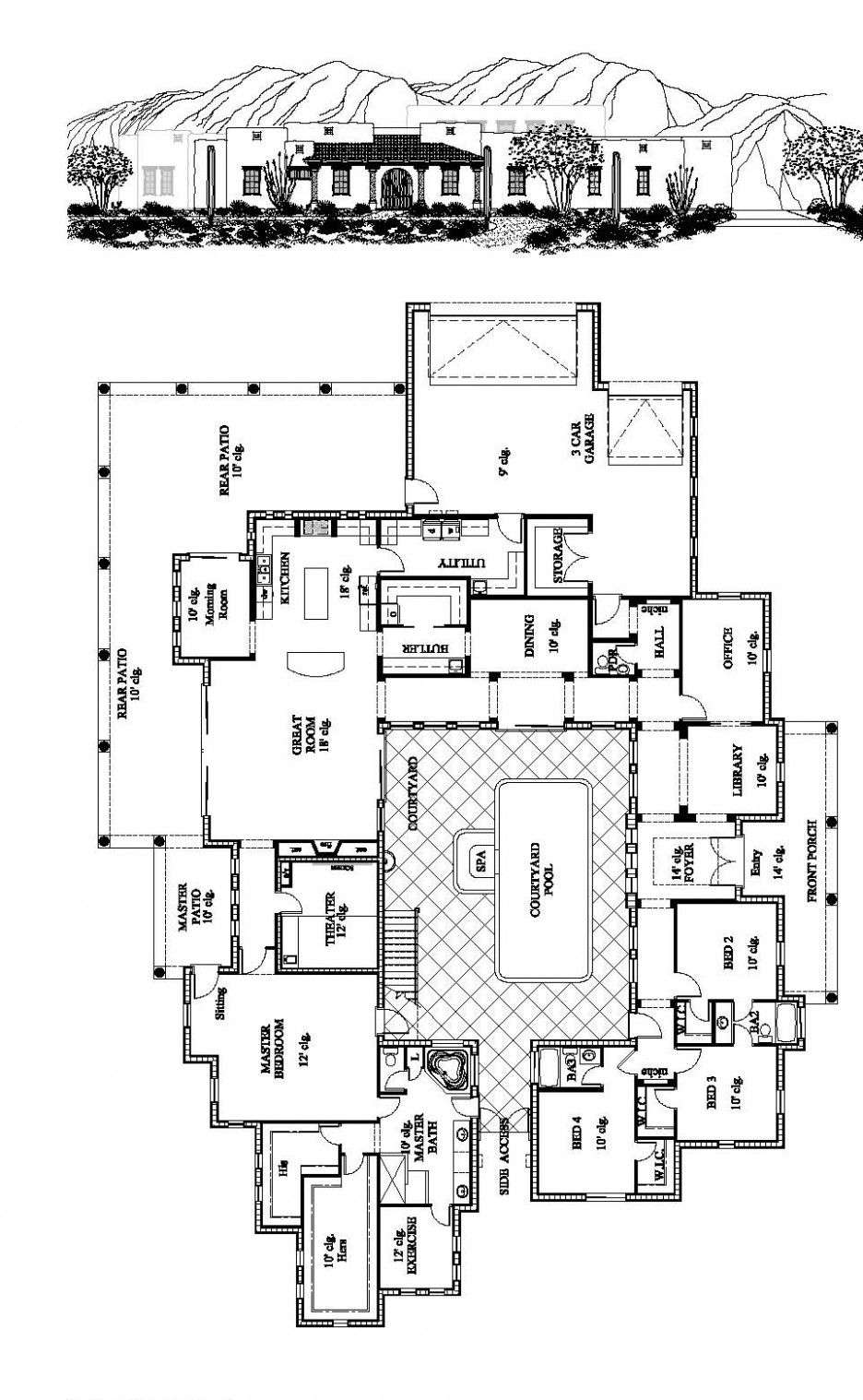 Appealing ICF House Plans with Large Lawn: Fabulous ...