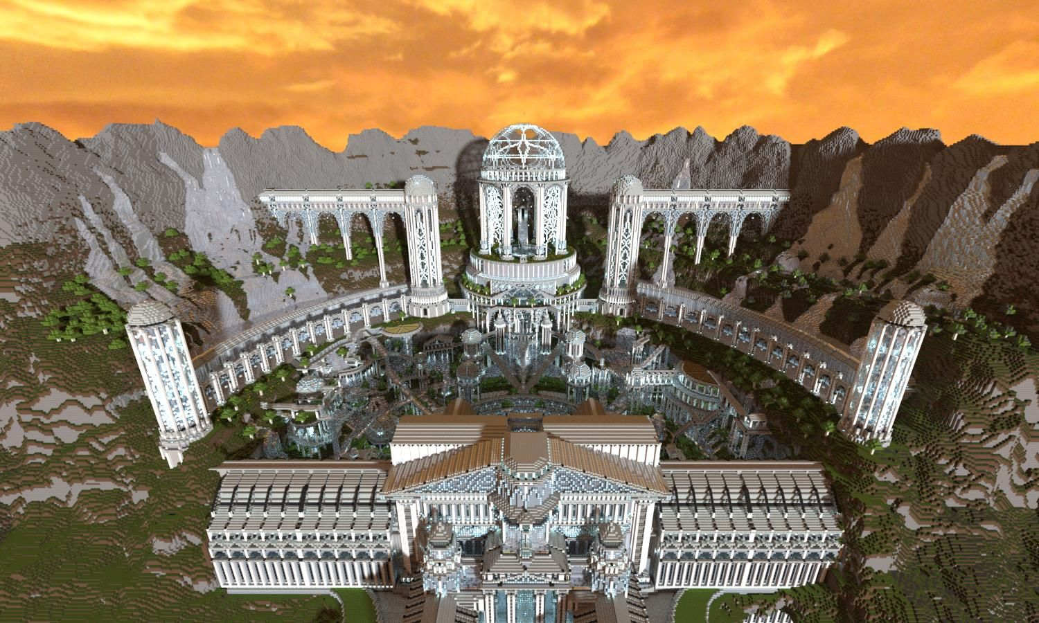 Greek Architecture Minecraft 3 months and 60 million blocks - a fantasy city in minecraft