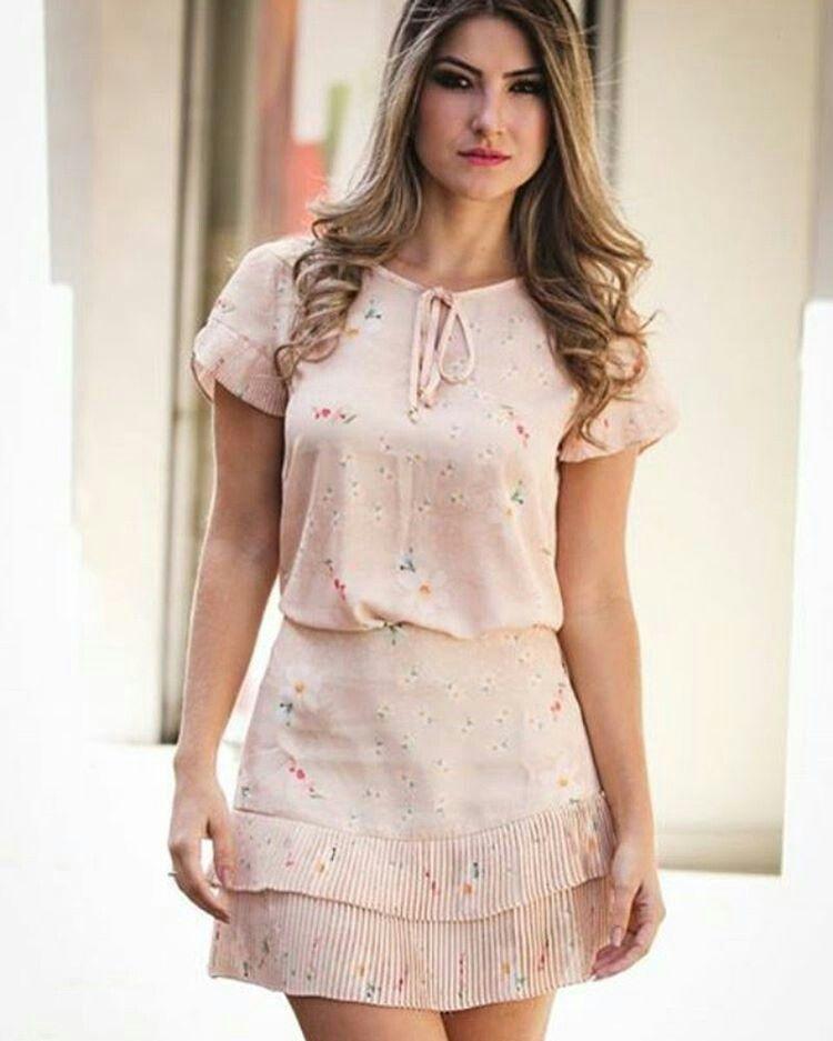 b047b3d8a Vestido delicado   vestidos damas   Vestidos, Vestidos elegantes y ...