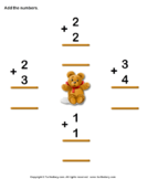 One Digit Addition-Worksheet 1 - free