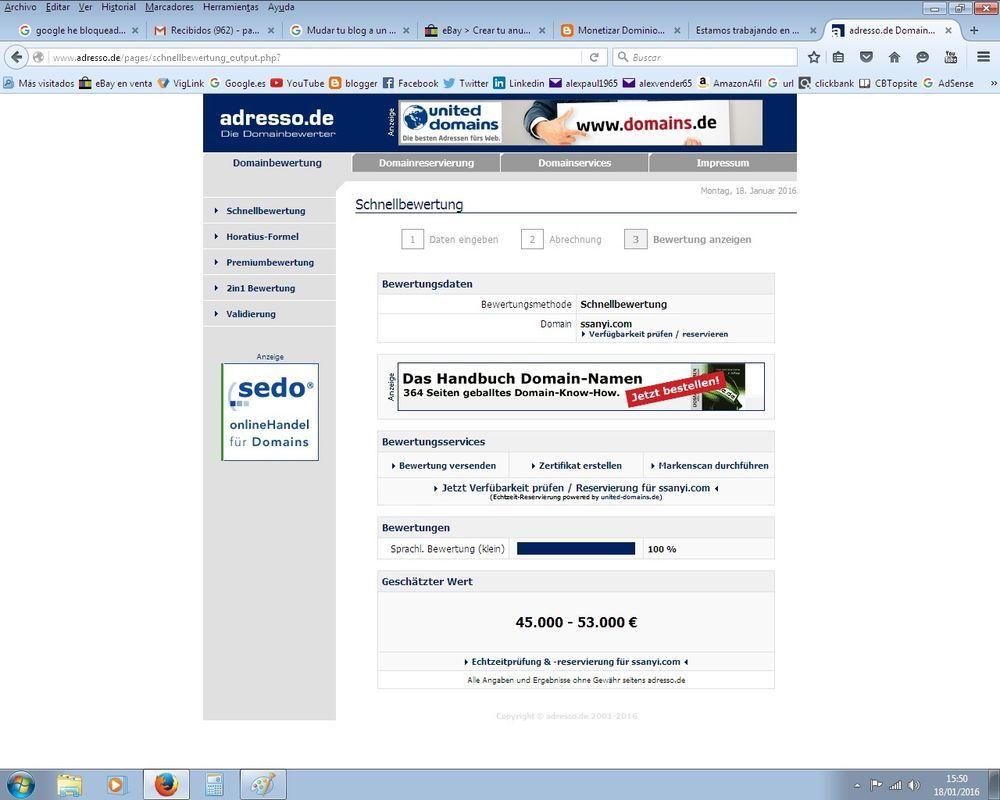 ssanyi.com nombre de dominio su valor estimado 50.000,-€