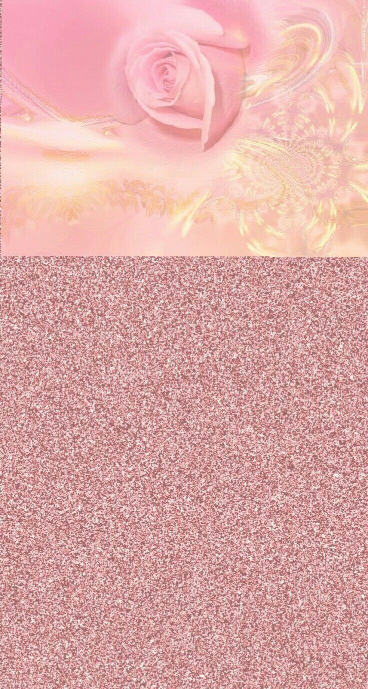 Pink And Gold Bathroom Decor: Rose Gold Wallpaper