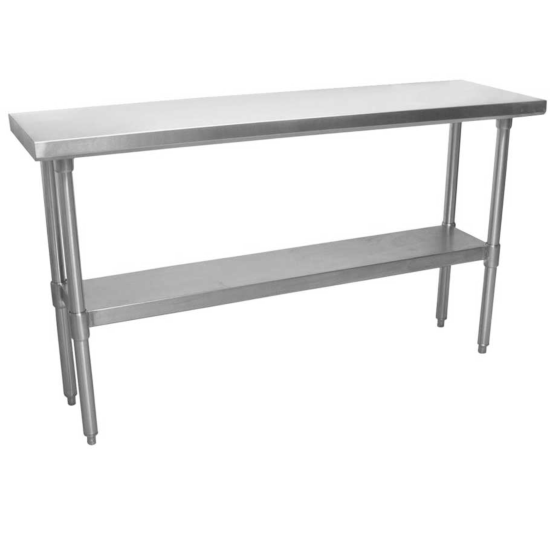 Prepline Pwtg 1460 14 D X 60 L Stainless Steel Worktable With Undershelf In 2020 Work Table Stainless Steel Stainless